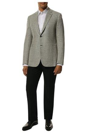 Мужской пиджак из смеси шелка и кашемира BRIONI светло-серого цвета, арт. RG0J0M/P842M/BRUNIC0 | Фото 2