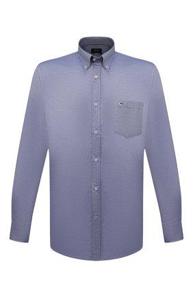 Мужская хлопковая рубашка PAUL&SHARK голубого цвета, арт. C0P3000/C00 | Фото 1
