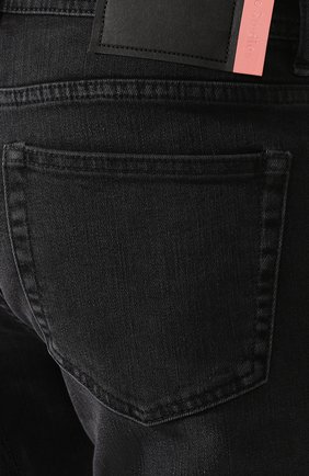 Джинсы прямого кроя Acne Studios темно-серые | Фото №5