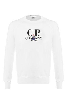 Мужской хлопковый свитшот C.P. COMPANY белого цвета, арт. 06CMSS214A-005429W | Фото 1