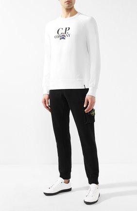 Мужской хлопковый свитшот C.P. COMPANY белого цвета, арт. 06CMSS214A-005429W | Фото 2