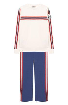 Комплект из хлопкового свитшота и брюк | Фото №1