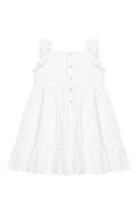 Женский хлопковое платье IL GUFO белого цвета, арт. P19VM509C0003/12M-18M | Фото 2