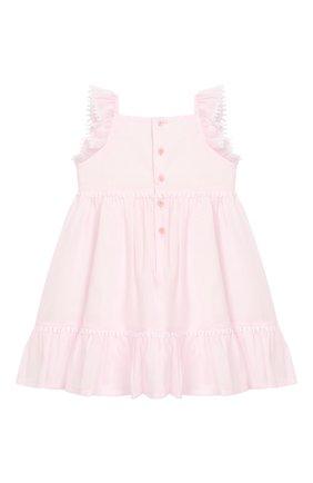 Женский хлопковое платье IL GUFO розового цвета, арт. P19VM509C0003/12M-18M | Фото 2