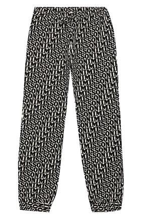 Хлопковые джоггеры Missoni черно-белого цвета | Фото №1