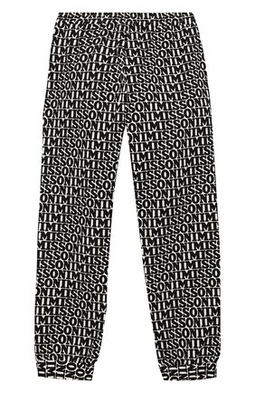 Хлопковые джоггеры Missoni черно-белого цвета | Фото №2