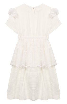 Детское хлопковое платье PAADE MODE белого цвета, арт. 92080/10Y-16Y | Фото 2