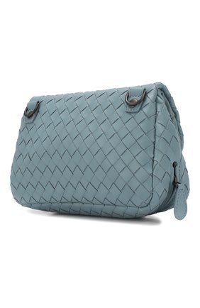 Cумка Messenger mini  Bottega Veneta голубая цвета   Фото №3