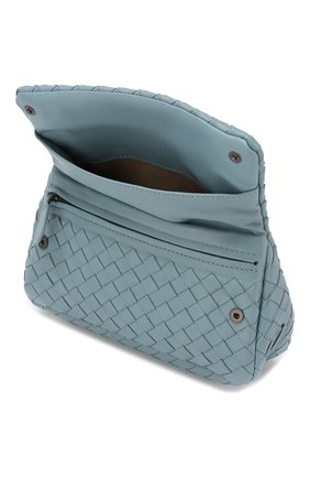 Cумка Messenger mini  Bottega Veneta голубая цвета   Фото №4