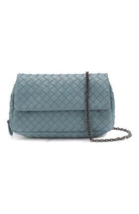 Cумка Messenger mini  Bottega Veneta голубая цвета   Фото №5