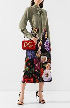 Сумка DG Girls из бархата Dolce & Gabbana красная цвета | Фото №2