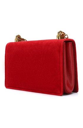 Сумка DG Girls из бархата Dolce & Gabbana красная цвета | Фото №3
