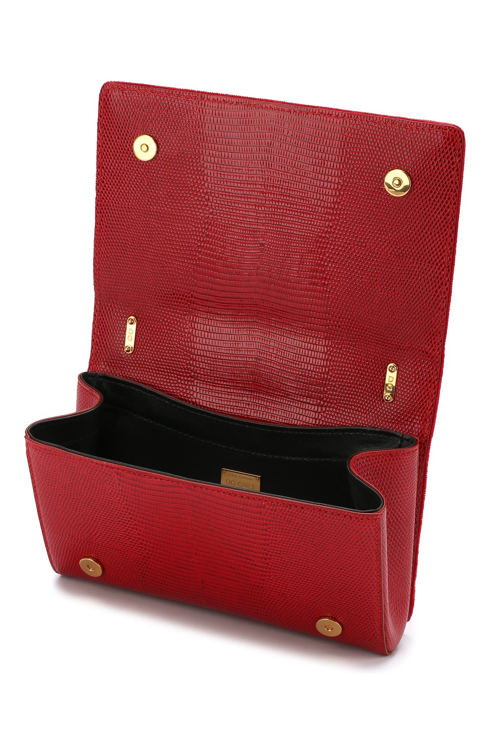 Сумка DG Girls из бархата Dolce & Gabbana красная цвета | Фото №4