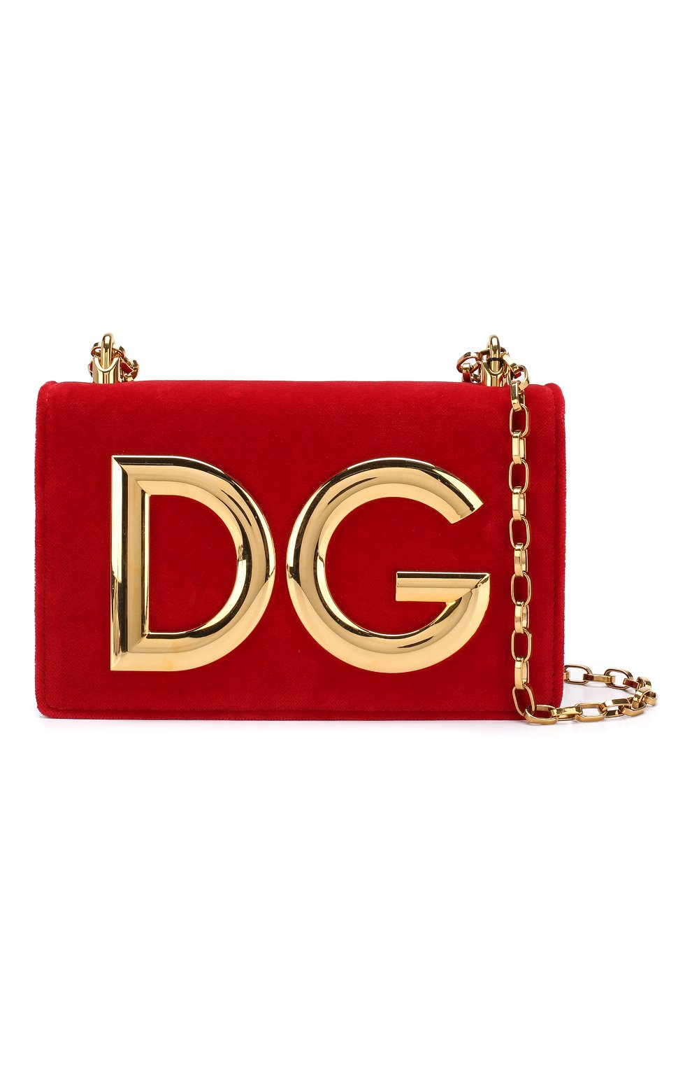 Сумка DG Girls из бархата Dolce & Gabbana красная цвета | Фото №5