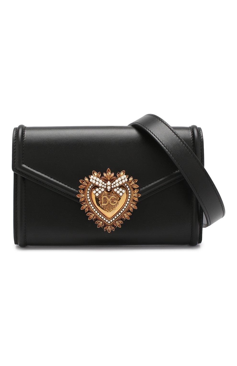 ec3da407 Женская черная поясная сумка devotion DOLCE & GABBANA — купить за ...