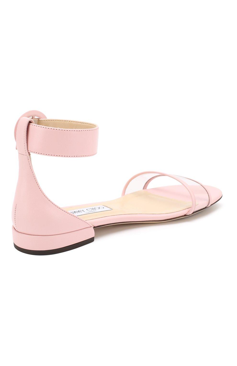 Кожаные сандалии Jamie  Jimmy Choo светло-розовые | Фото №4