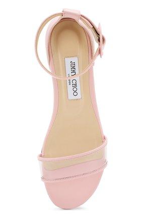 Кожаные сандалии Jamie  Jimmy Choo светло-розовые | Фото №5