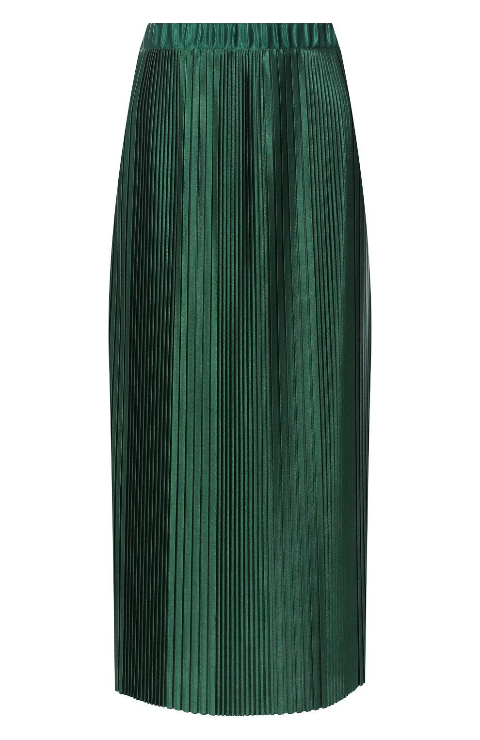 Плиссированная юбка Givenchy зеленая | Фото №1