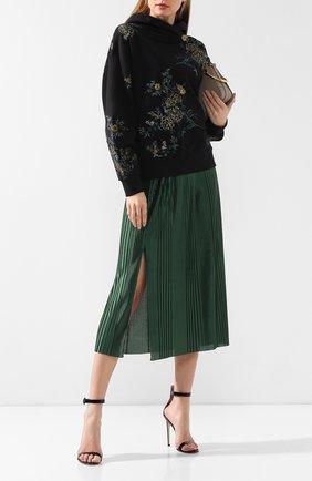Плиссированная юбка Givenchy зеленая | Фото №2