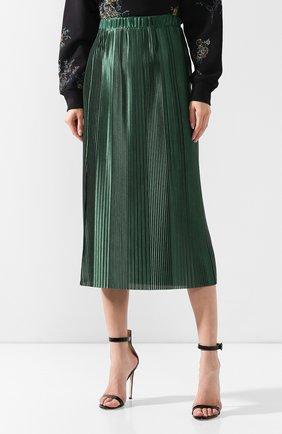 Плиссированная юбка Givenchy зеленая | Фото №3