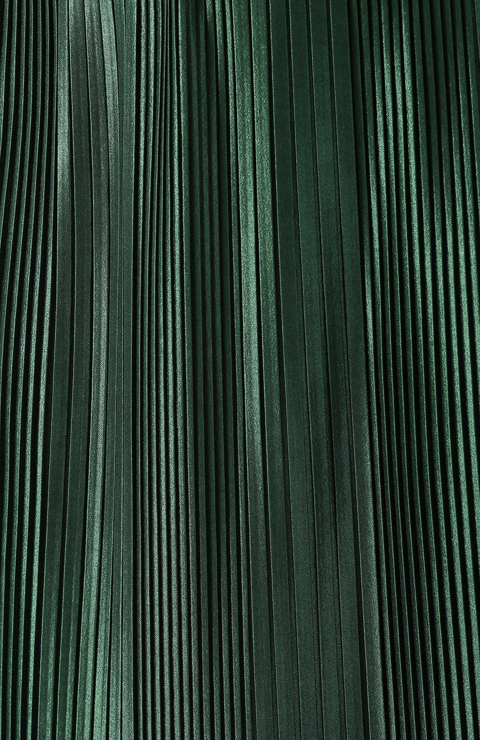 Плиссированная юбка Givenchy зеленая | Фото №5