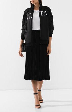 Женский кардиган с карманами VALENTINO черно-белого цвета, арт. RB3MF05Y49R | Фото 2