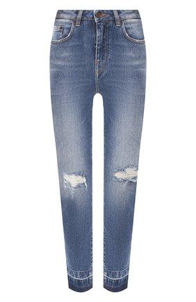 Женские джинсы с потертостями DOLCE & GABBANA голубого цвета, арт. FTAQ1D/G885W | Фото 1