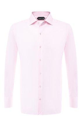 Мужская хлопковая сорочка с воротником кент TOM FORD розового цвета, арт. 5FT196/94S3AX | Фото 1