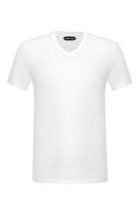 Мужская хлопковая футболка TOM FORD белого цвета, арт. BS402/TFJ894   Фото 1