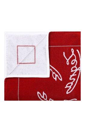 Мужские хлопковое полотенце ERMENEGILDO ZEGNA красного цвета, арт. N7P000700 | Фото 1