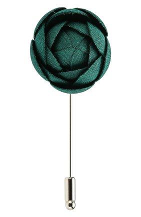 булавка для галстука FLOWER ME зеленого цвета, арт. CMML-NS008010S | Фото 1