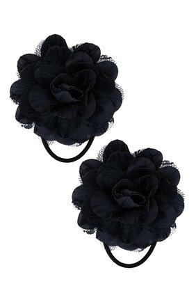 Детская комплект из 2-х резинок lace flower JUNEFEE темно-синего цвета, арт. 5120 | Фото 1