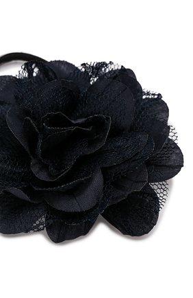 Детская комплект из 2-х резинок lace flower JUNEFEE темно-синего цвета, арт. 5120   Фото 2
