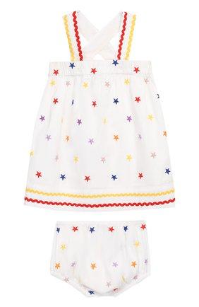 Женский комплект из хлопкового платья и шорт STELLA MCCARTNEY разноцветного цвета, арт. 539573/SMK28   Фото 1