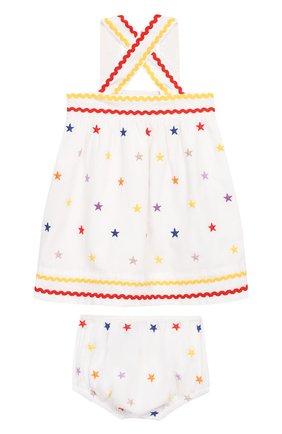 Женский комплект из хлопкового платья и шорт STELLA MCCARTNEY разноцветного цвета, арт. 539573/SMK28   Фото 2