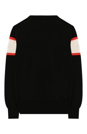Детский хлопковый пуловер MONCLER ENFANT черного цвета, арт. E1-954-90068-05-V9019/8-10A | Фото 2