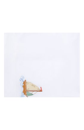 Детского комплект из хлопковой простыни и наволочки LORETTA CAPONI белого цвета, арт. 191K20358300701 | Фото 2