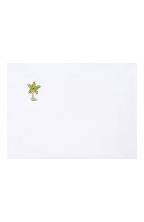 Детского комплект из хлопковой простыни и наволочки LORETTA CAPONI белого цвета, арт. 191K20318300701 | Фото 2