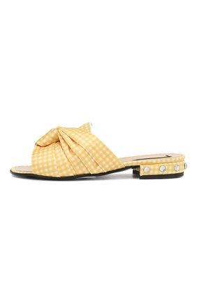Детский текстильные шлепанцы N21 желтого цвета, арт. 59551/28-35 | Фото 2