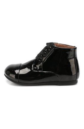 Детские кожаные ботинки AGE OF INNOCENCE черного цвета, арт. JANE P.L/000016/20-26 | Фото 2