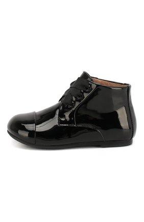 Детские кожаные ботинки AGE OF INNOCENCE черного цвета, арт. JANE P.L/000016/27-33 | Фото 2