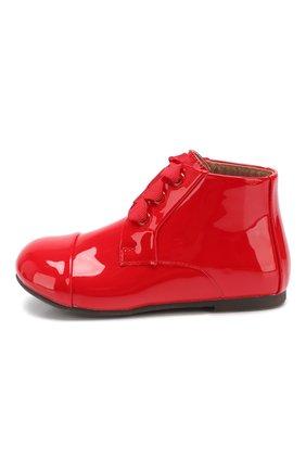 Детские кожаные ботинки AGE OF INNOCENCE красного цвета, арт. JANE/000016/20-26 | Фото 2