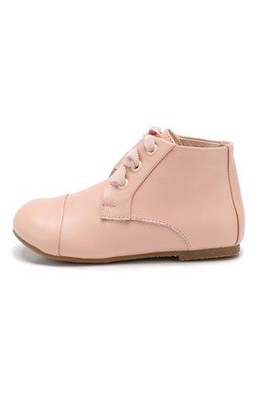 Детские кожаные ботинки AGE OF INNOCENCE розового цвета, арт. JANE/000016/20-26 | Фото 2
