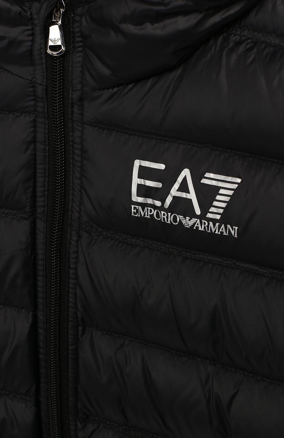 Пуховая куртка с капюшоном   Фото №3