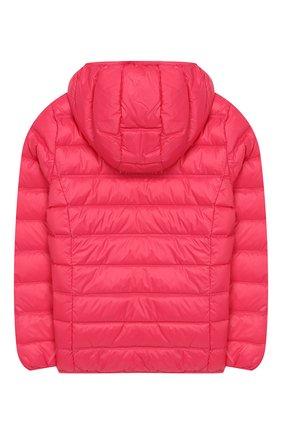 Детского пуховая куртка с капюшоном EA 7 розового цвета, арт. 8NBB34/BN29Z | Фото 2