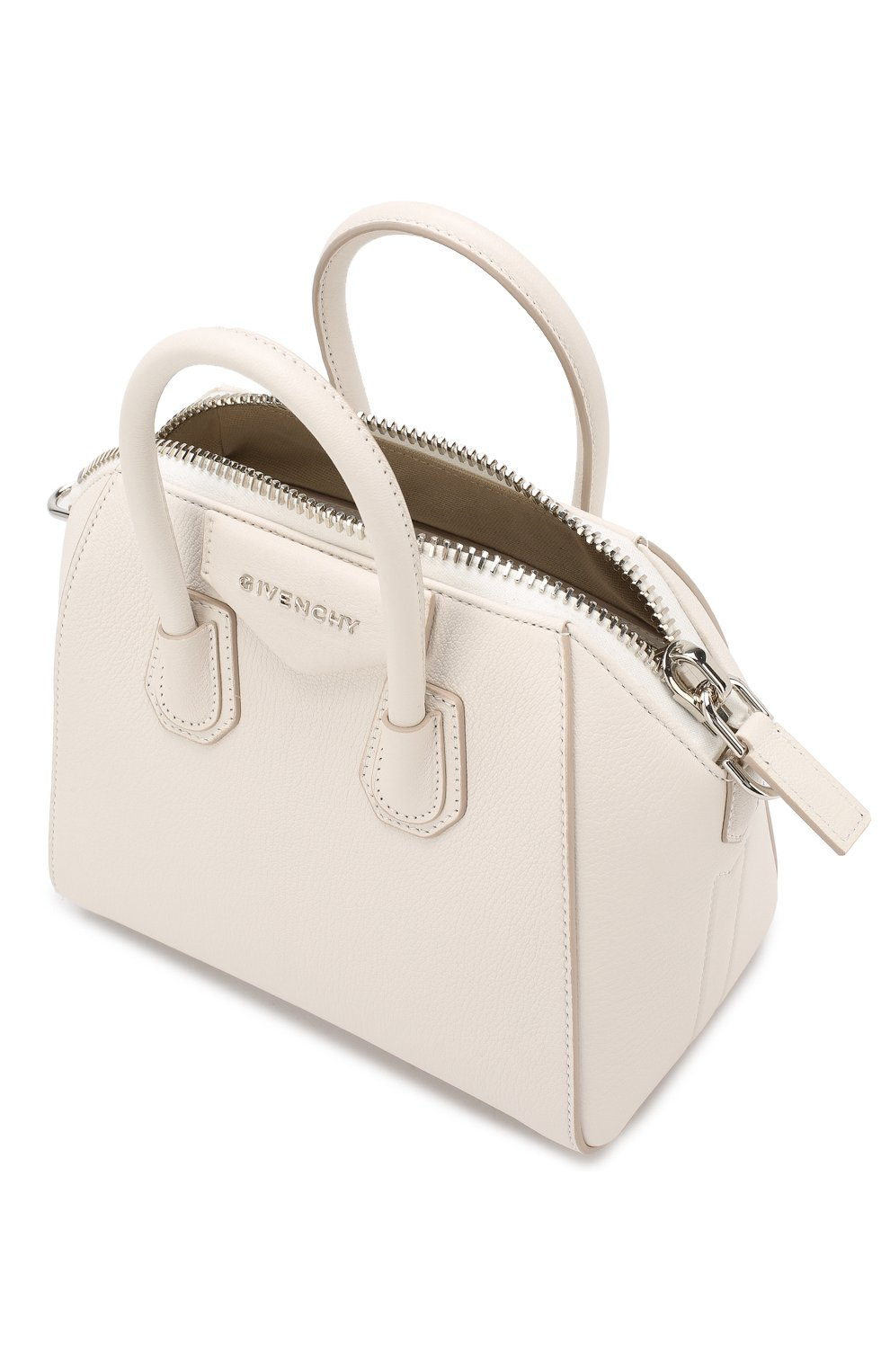 Сумка Antigona mini Givenchy белая цвета | Фото №4