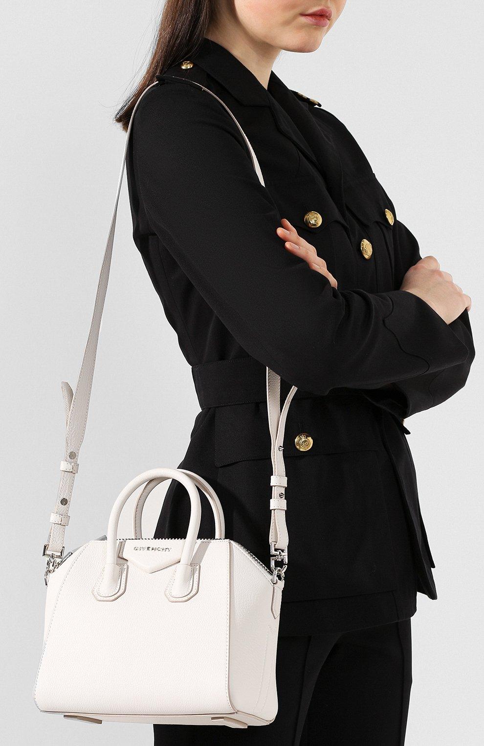 Сумка Antigona mini Givenchy белая цвета | Фото №5