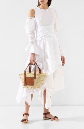 Сумка Basket Loewe бежевая цвета   Фото №2
