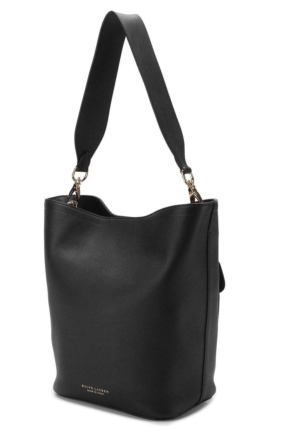 Сумка Ricky Bucket Ralph Lauren черная цвета | Фото №3