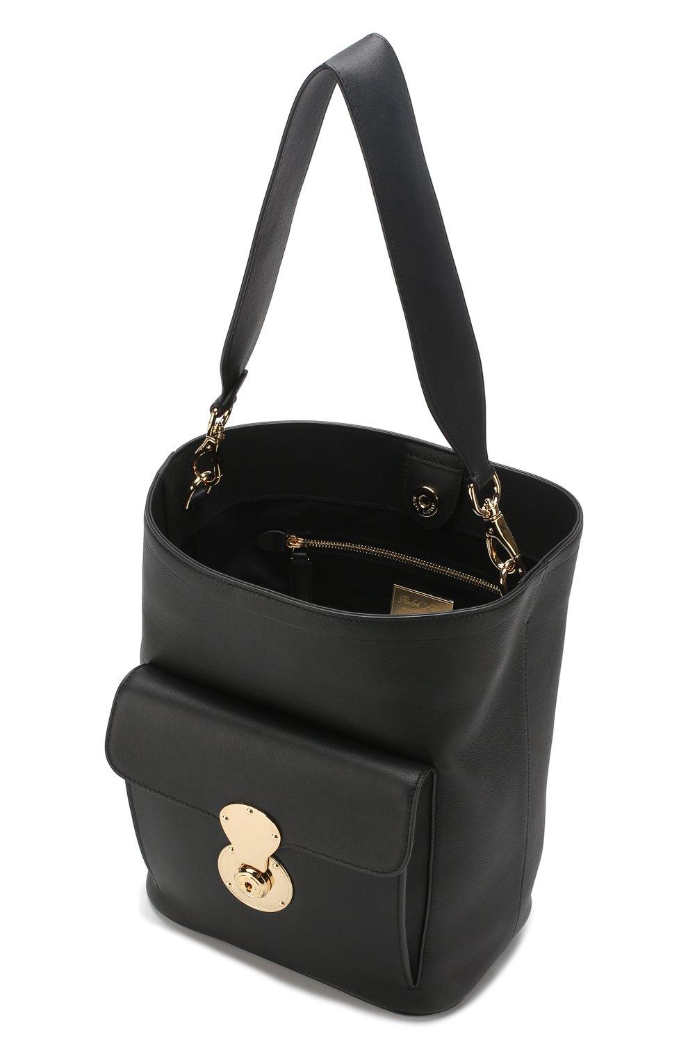 Сумка Ricky Bucket Ralph Lauren черная цвета | Фото №4